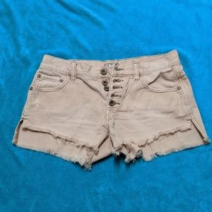 Free People Distressed Cutoff Jean Shorts